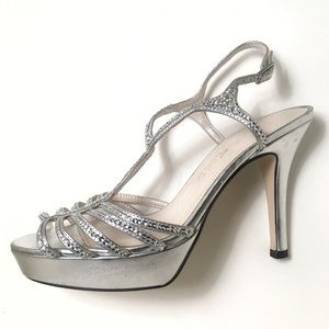 Caparros Zephyr Heels Platform Silver Metallic
